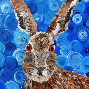 GOOD HARE DAY, Hare print, limited edition print.