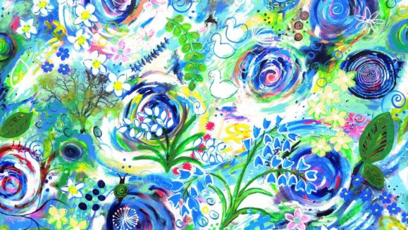 SYMPHONY OF SPRING, Original Painting, statement art, art for the home, floral art, Intuitive art, colourful flower painting, emotional art