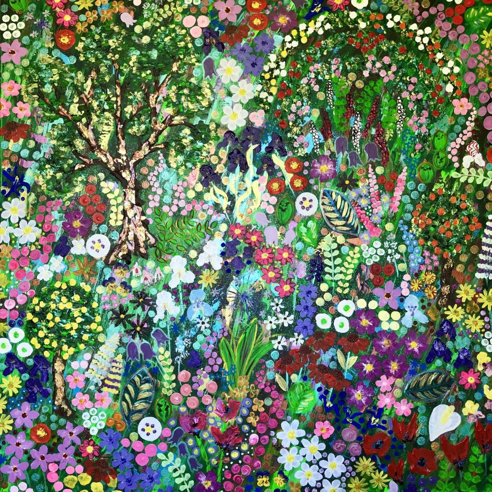 The Flowers of Monet's Garden, Original Painting