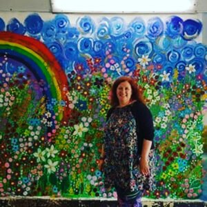 FLOWERS ALL TOGETHER HAPPY IN THEIR MEADOW A new original mural by Artist Charron Pugsley-Hill