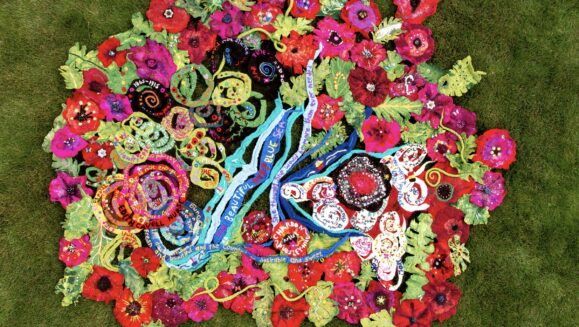 THE BLANKET OF POPPIES-CHARRON PUGSLEY-HILL ARTIST