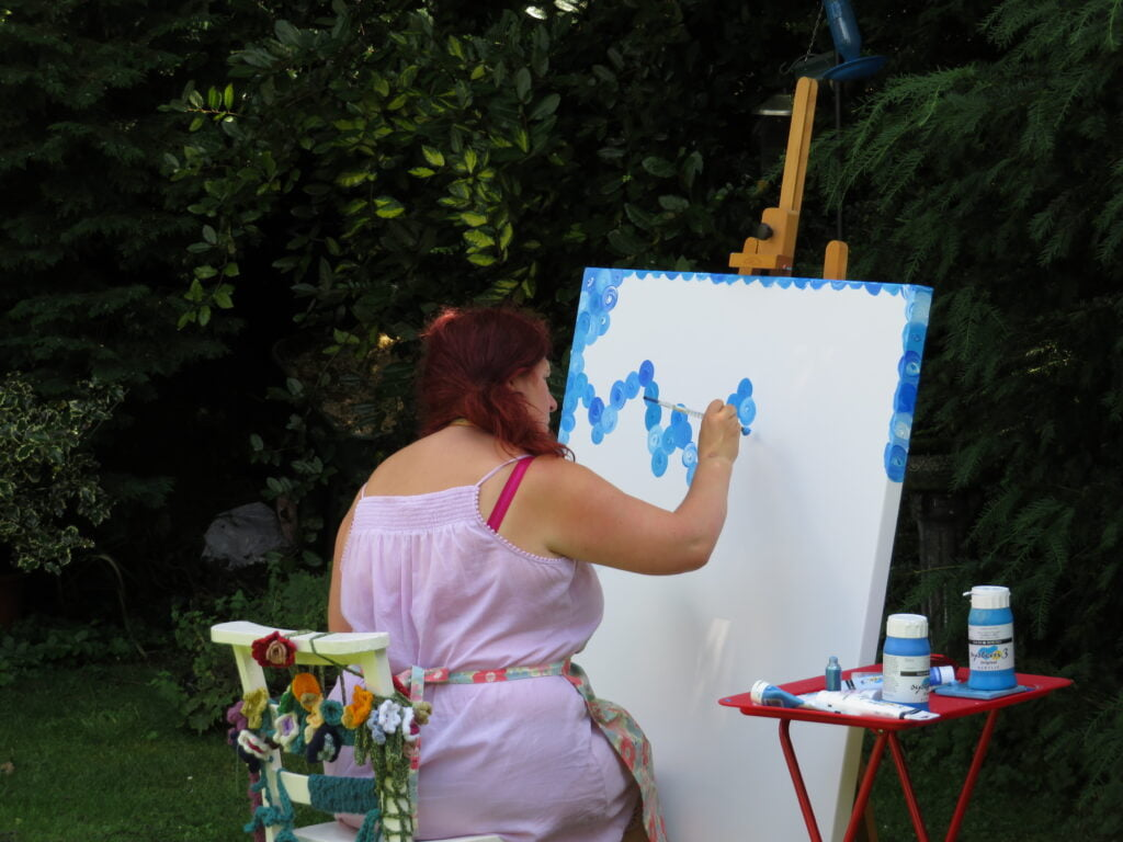 Painting at a Special Birthday in the Garden