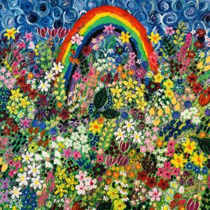 A Rainbow Gives Hope in the Storm | Original Painting